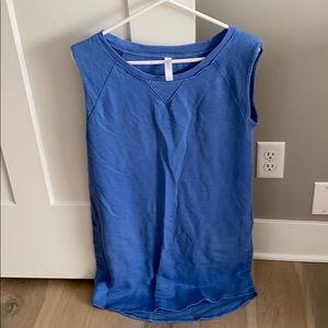 Blue swim suit cover up